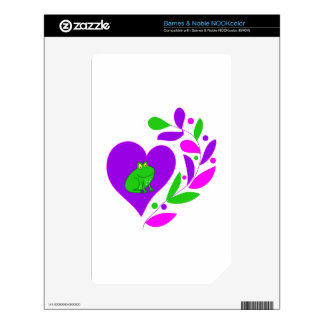 Frog Heart Decals For The NOOK Color