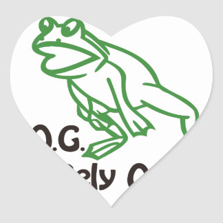 FROG HEART STICKER
