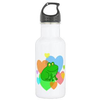 Frog Hearts 18oz Water Bottle