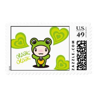 Frog & Hearts Postage