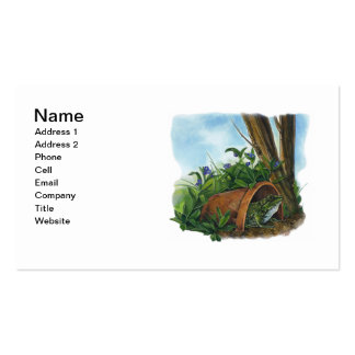 Frog Hiding in a Flower Pot Business Card Template