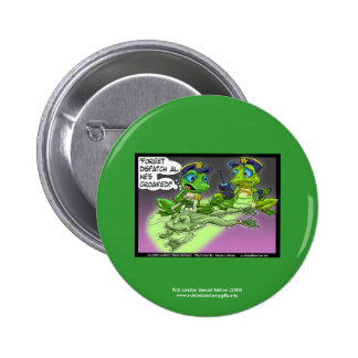 Frog Homicide Police Cartoon Novelty Button