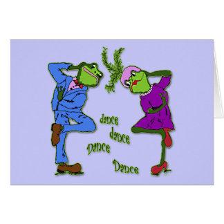 Frog Hop Dance Dance Card