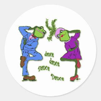 Frog Hop Dance Dance Classic Round Sticker