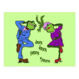 Frog Hop Dance Dance Postcard
