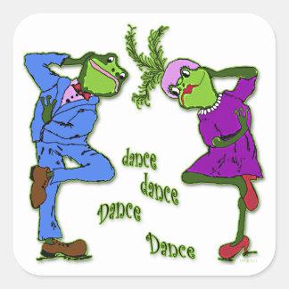 Frog Hop Dance Dance Square Sticker
