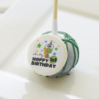 Frog Hoppy 1st Birthday Cake Pops