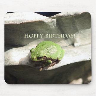 Frog Hoppy Birthday Mousepad