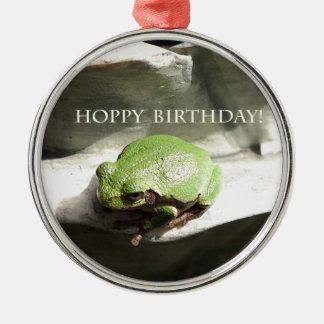 Frog Hoppy Birthday Christmas Ornaments