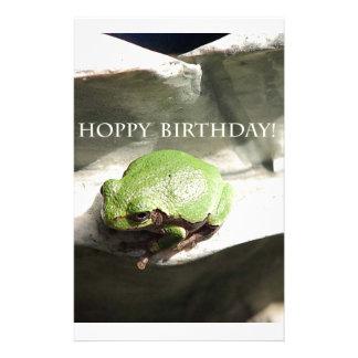 Frog Hoppy Birthday Stationery Design