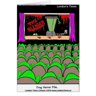 Frog Horror Film Funny Tees Mugs Cards More Card