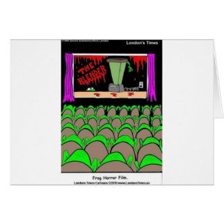 Frog Horror Film Funny Tees Mugs Cards More Cards