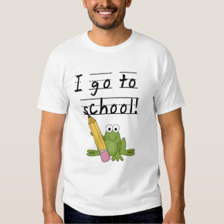 Frog I Go To School Tshirts and Gifts
