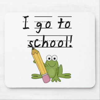 Frog I Go To School Tshirts and Gifts Mouse Pad