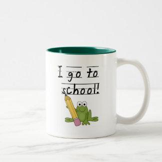 Frog I Go To School Tshirts and Gifts Two-Tone Coffee Mug