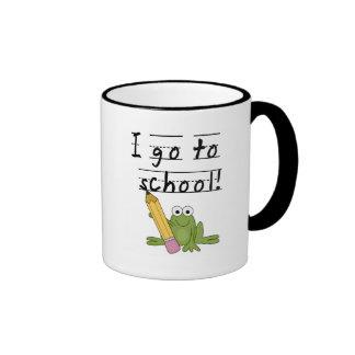 Frog I Go To School Tshirts and Gifts Mug
