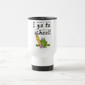 Frog I Go To School Tshirts and Gifts 15 Oz Stainless Steel Travel Mug
