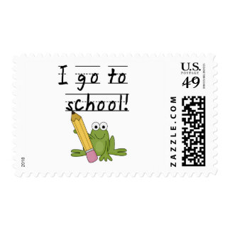 Frog I Go To School Tshirts and Gifts Stamp