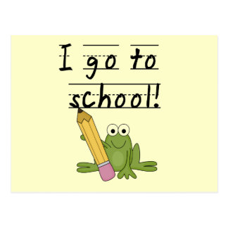 Frog I Go To School Tshirts and Gifts Postcard