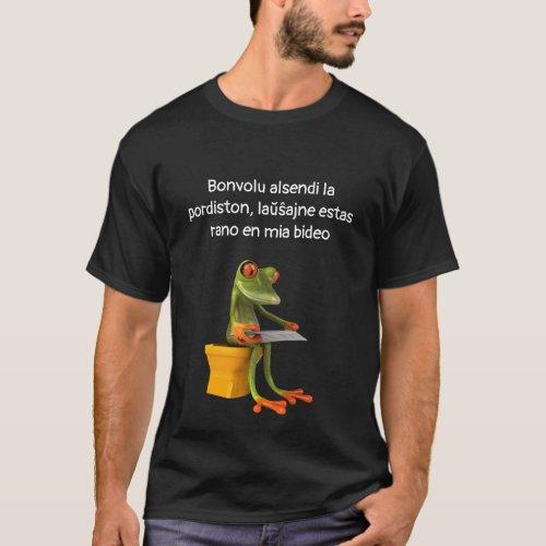 Frog in a Bidet Dark Shirt