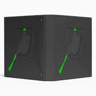 Frog In A Black Pocket 3 Ring Binder