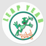 frog in a circle classic round sticker