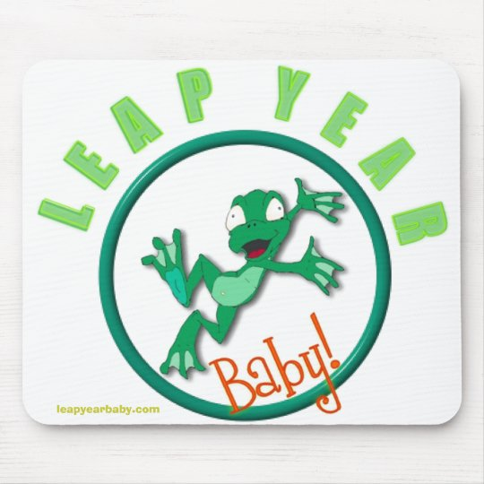 frog in a circle, leapyearbaby.com mouse pad