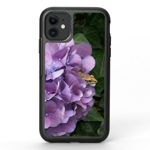 Frog in a Hydrangea, Otterbox iPhone Case.