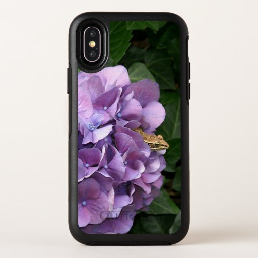 Frog in a Hydrangea, Otterbox iPhone X Case.