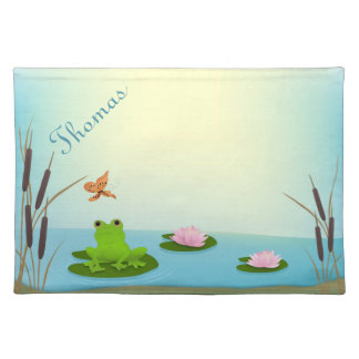 Frog in a Pond Child's Placemat