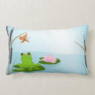 Frog in a Pond Lumbar Pillow