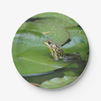 Frog in a Pond Paper Plate