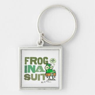 Frog in a Suit Premium Square Keychain (Small)
