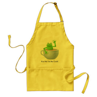 Frog in a Tea Adult Apron