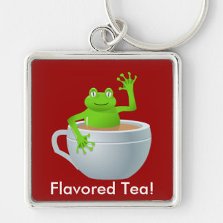Frog in a Tea Keychain