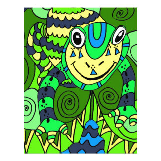 Frog in Bright Green and Blue Letterhead