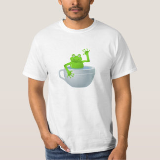 Frog in Cup Cartoon T-Shirt