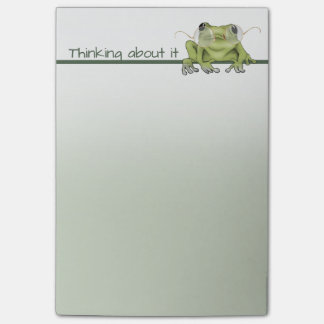 Frog in Glasses Is Thinking About It Post-it Notes