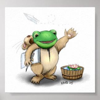 Frog in Hamster PJ's Poster