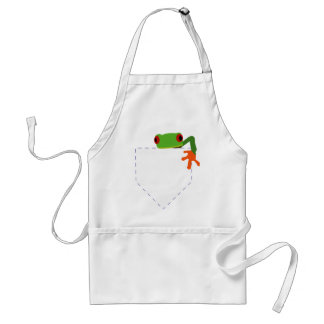 Frog in My Pocket Adult Apron