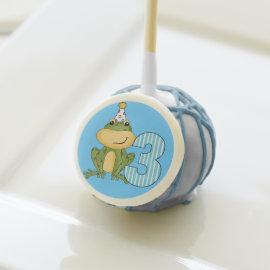 Frog in Party Hat 3rd Birthday Cake Pops Cake Pops