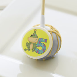 Frog in Party Hat 5th Birthday Cake Pops Cake Pops