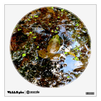 Frog in Pond Wall Sticker