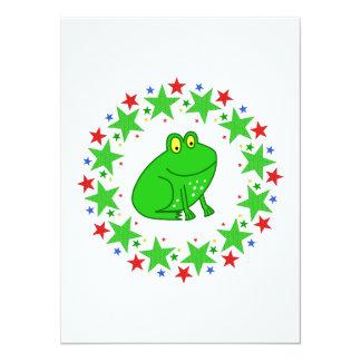 Frog in Stars Card