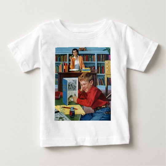 Frog in the Library Baby T-Shirt