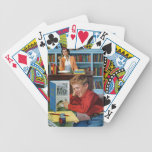Frog in the Library Bicycle Playing Cards
