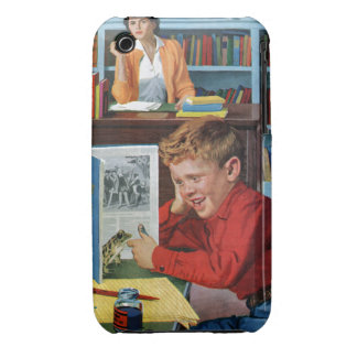 Frog in the Library Case-Mate iPhone 3 Cases