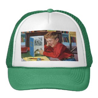 Frog in the Library Trucker Hat