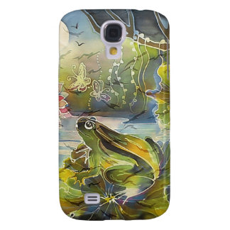 Frog in the Moonlight Painting Galaxy S4 Case