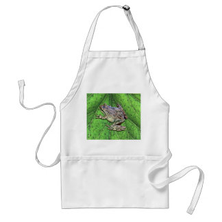 FROG IN THE RAIN ADULT APRON